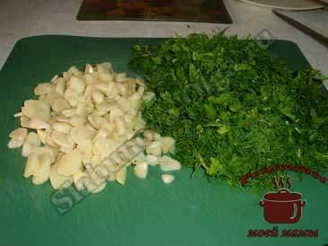 Маринованный-болгарский-перец,-режем-зелень