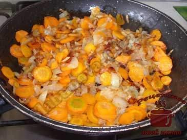 Скумбрия-в-духовке,-овощи-пережариваем