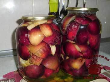Яблоки-на-зиму-в-сиропе,-наполняем-сиропом
