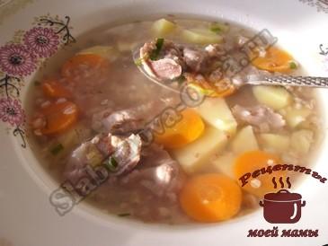 Гречневый-суп-с-куриными-желудками