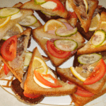 Вкусные-бутерброды-на-гренках