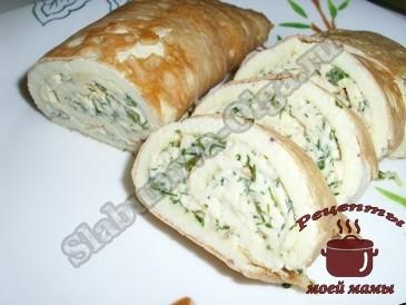 Вкусная-закуска-из-омлета-с-плавленым-сыром
