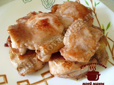 Жареное куриное филе готово