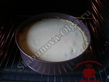 Песочный пирог,запекаем