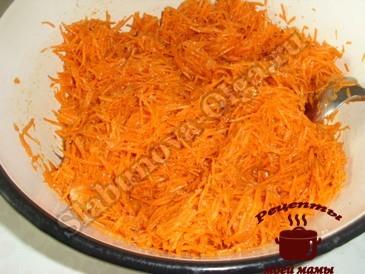 Помидоры по-корейски, морковь