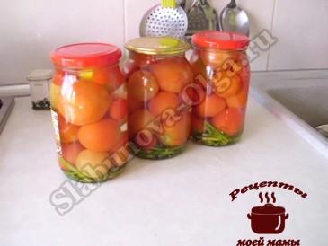 Сладкие маринованные помидоры готовы