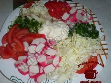 Салат с пекинской капустой