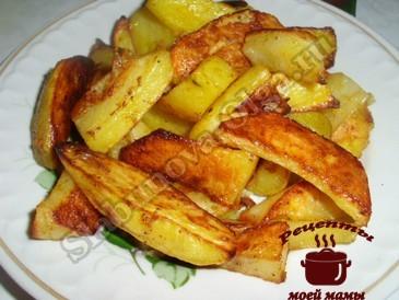 Картофель по-деревенски готов