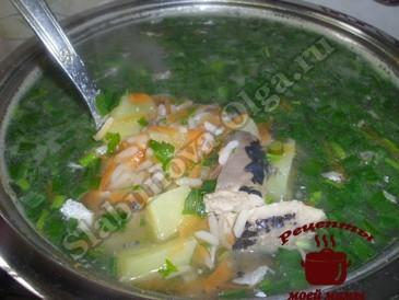 Быстрый суп из рыбных консервов