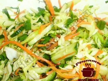 Салат из капусты с корейской морковью