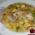 Суп из рыбных консервов с рисом