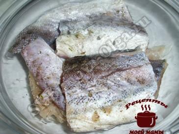 Минтай в духовке , маринуем рыбу