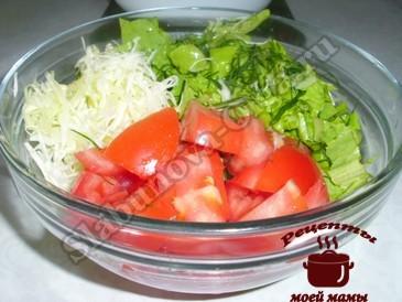 Овощной салат из помидоров