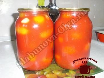 Помидоры в томатном соке, заливаем соком