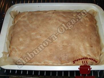 Турецкий яблочный пирог, запекаем