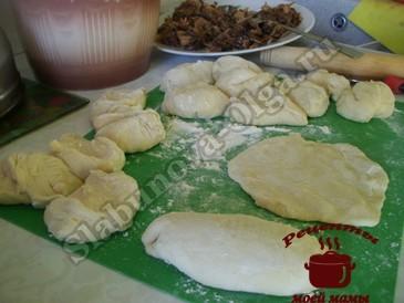 Жареные пирожки, формируем пирожки