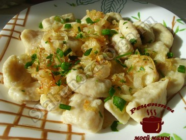 Галушки картофельные готовы