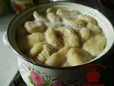 Галушки картофельные, варим