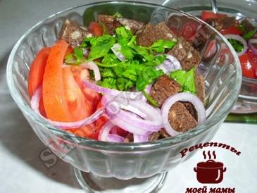 Салат с помидорами