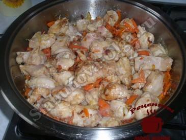Курица по-китайски, добавляем курицу