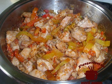 Курица по-китайски, добавляем перец