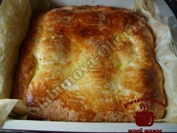 Творожный пирог с яблочной начинкой