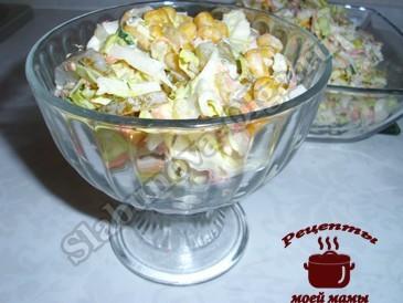 Быстрый салат из пекинской капусты