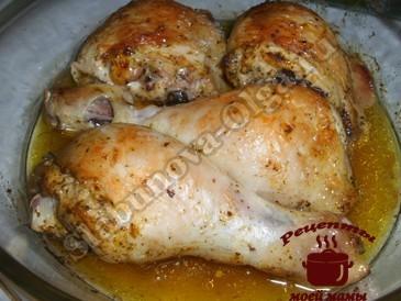 Курица в соевом соусе с горчицей