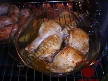 Курица в соевом соусе, запекаем