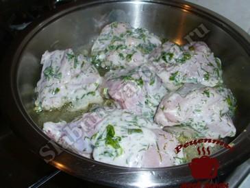 Вкусная курица в маринаде