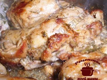 Вкусная курица в маринаде готова