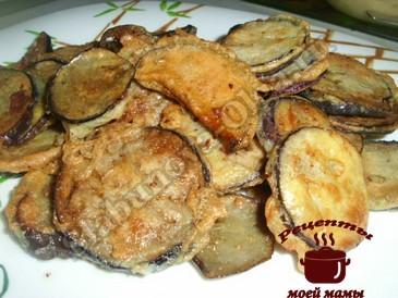 Вкусные баклажаны в кляре готовы