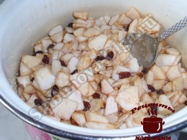 Яблочный пирог, готовим начинку