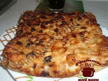 Яблочный пирог, запекаем