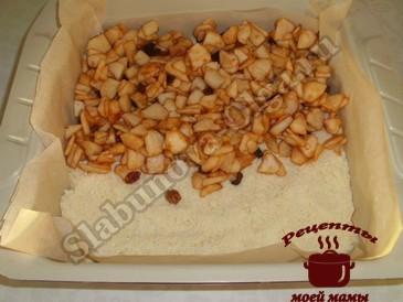 Яблочный пирог, выкладываем слоями