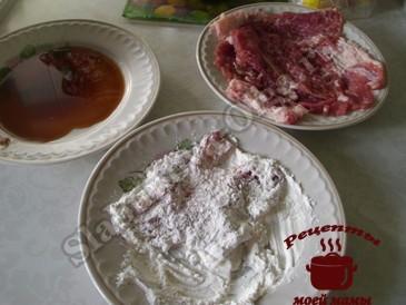 Вкусное мясо в кляре