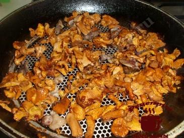 Жареная капуста, жарим грибы