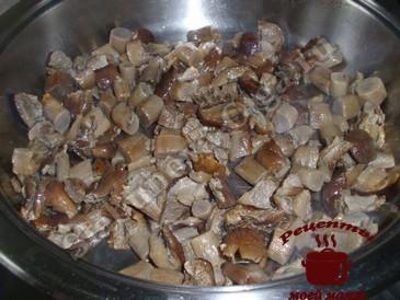 Жареные грибы, обжариваем