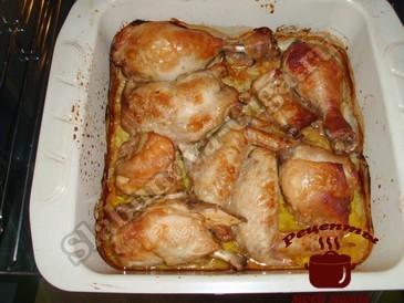 Курица по-грузински, запекаем
