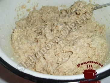 Овсяное печенье, замешиваем тесто