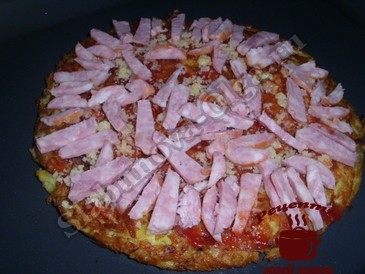 Пицца в духовке, слоями1
