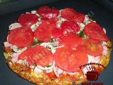 Пицца в духовке, слоями2