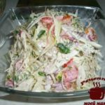 Салат из капусты с майонезом