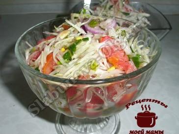 Салат из капусты с маслом