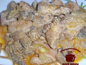 Вкусное блюдо из свинины