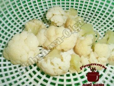 Вкусный омлет, отвариваем капусту