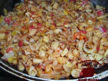 Спаржевая фасоль с помидорами