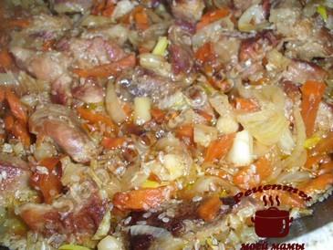 Жареное мясо с кунжутом готово