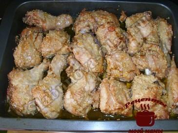 Курица запеченная в духовке, запекаем