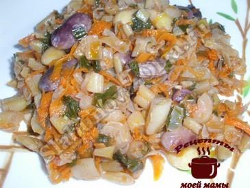 Овощное рагу с капустой